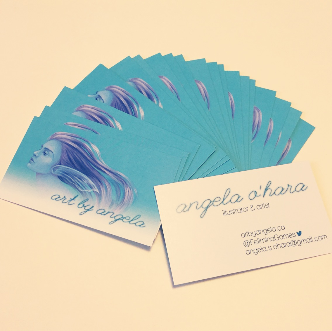 New business cards art by angela for New business cards